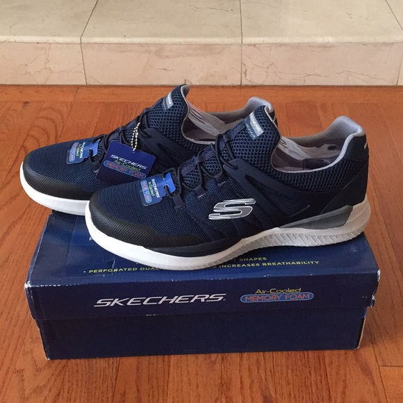 skechers navy blue shoes